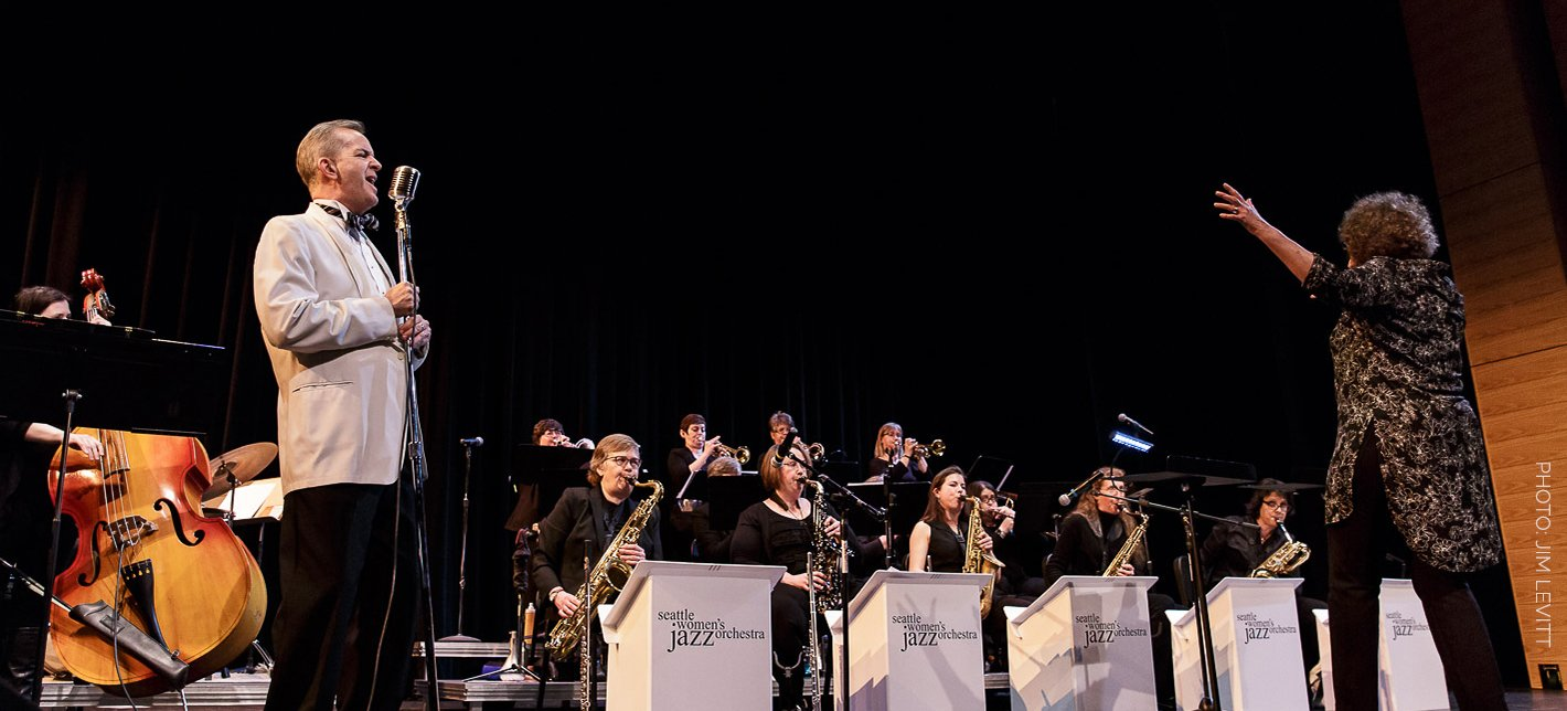 Jake Bergevin with Seattle Women's Jazz Orchestra
